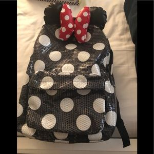 Disneyland Minnie Mouse Sequin Backpack